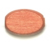 Wood Flat Oval 10/15mm Light Brown Polished